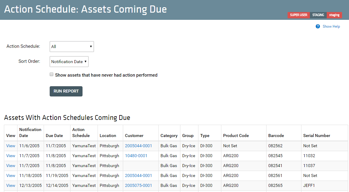 Action Schedule_ Assets Coming Due_New UI