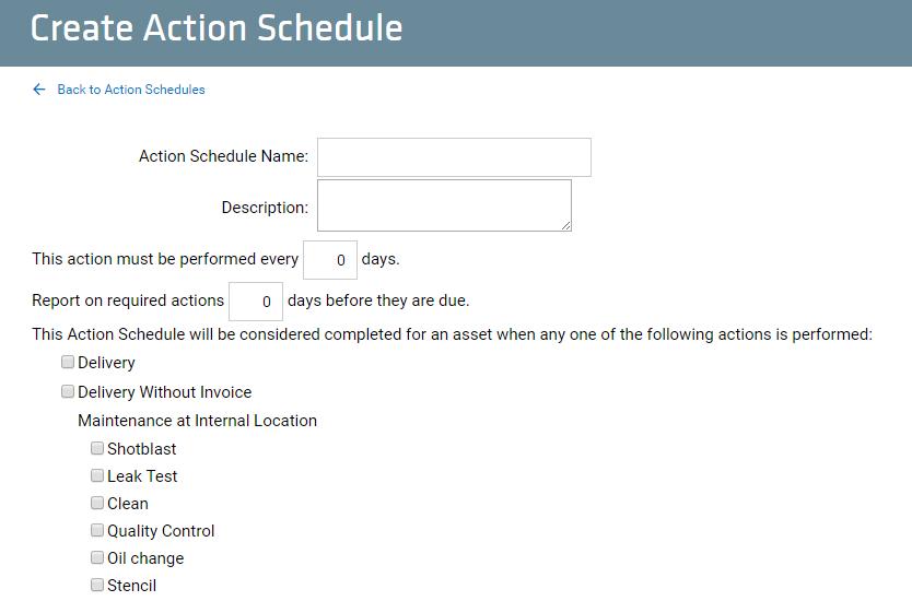 Create Action Schedule_top