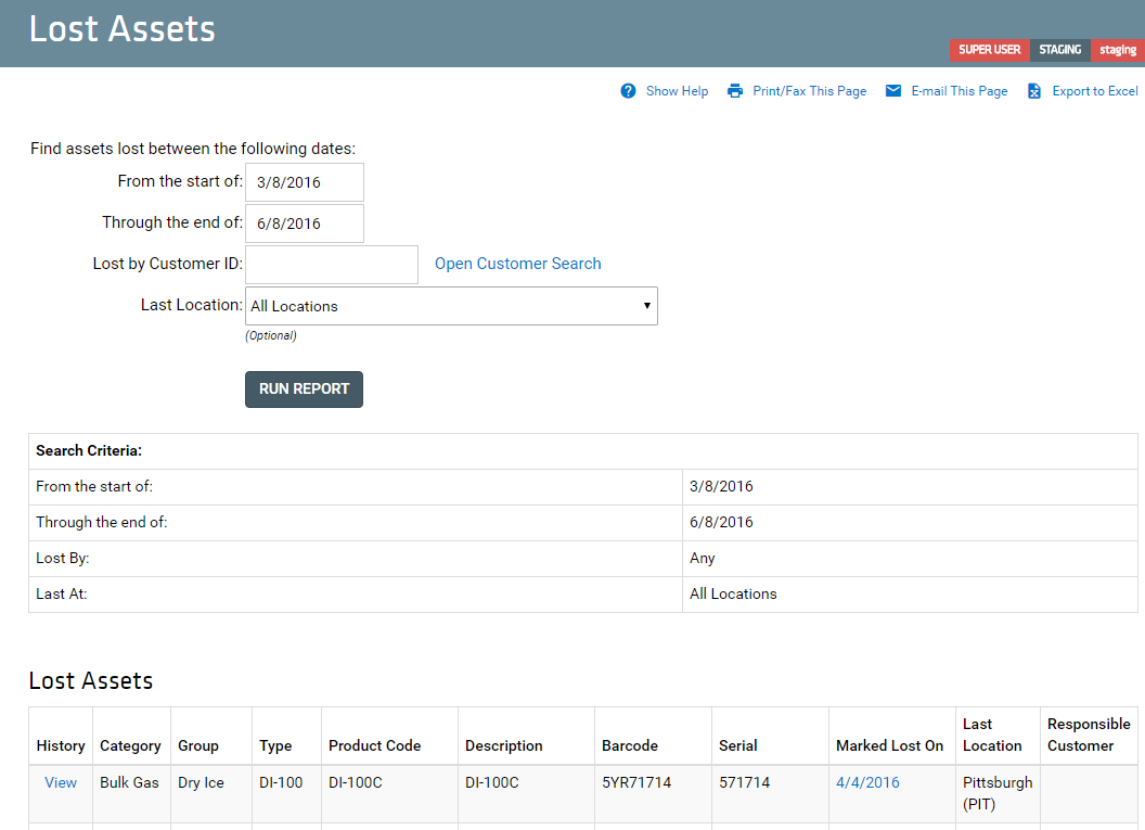 Lost Assets AWS new UI