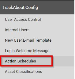 Menu Item_Action Schedules