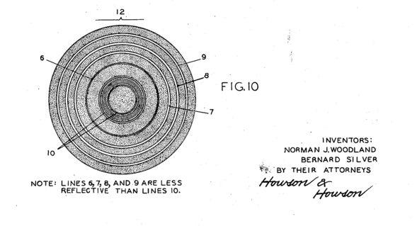 Bullseye Barcode Design from Patent US2612994